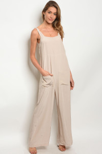 240-3-2-NA-J6972 TAUPE JUMPSUIT 3-2-1