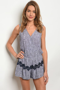 136-3-5-NA-R6817 LILAC NAVY ROMPER 2-2-2