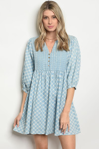 SA4-5-1-D3279 BLUE DENIM DRESS 2-2-2