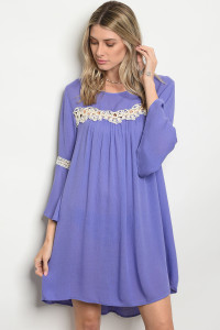 120-3-2-D3349 LAVENDER DRESS 1-2-1