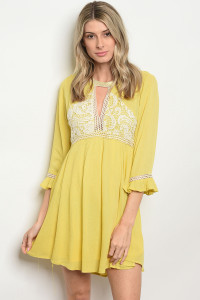 134-2-1-D3923 YELLOW DRESS 2-1
