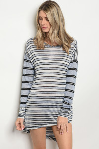 134-2-1-D3604 BLUE STRIPES DRESS 2-3-3