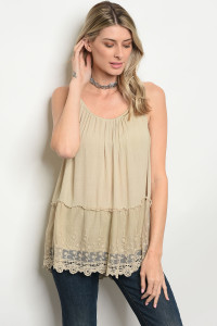 134-2-1-T3352 TAUPE TOP 1-1-2