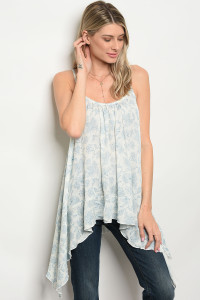 C14-A-3-T80101 OFF WHITE BLUE TOP 2-2-2