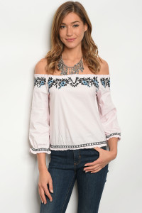 131-3-3-T02705 PINK BLUE TOP 2-2-2