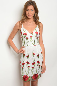 108-3-2-D02861 WHITE WITH FLOWER DRESS 2-2-2