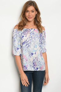 126-1-3-T1008 OFF WHITE PINK TOP 2-2-2