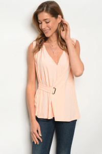 118-3-5-T9397 PEACH TOP / 5PCS