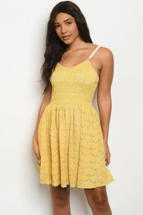 SA4-5-3-D5483 YELLOW DRESS 3-2-1