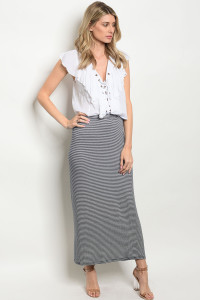 C68-A-1-S585 NAVY STRIPES SKIRT 2-2