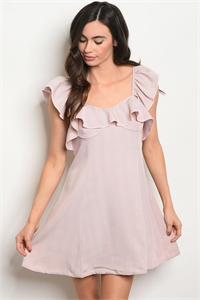 S3-6-5-D5073 BLUSH IVORY RUFFLE DRESS 3-2-1