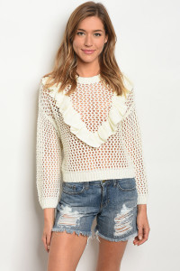 106-6-3-T11935 IVORY SWEATER 3-2-1