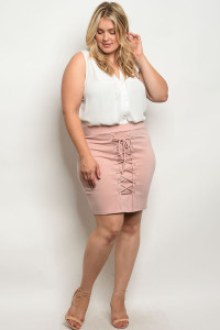 C46-B-2-S9069X BLUSH PLUS SIZE SKIRT 2-2-2