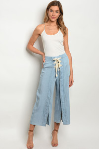 127-2-5-P12546 LIGHT DENIM PANTS 3-2-1