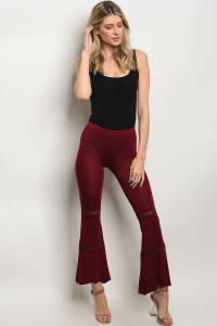 C8-A-3-PL038 BURGUNDY PANTS 2-2-2