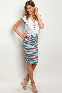 C51-B-7-S551 TEAL CORAL SKIRT 2-2-2