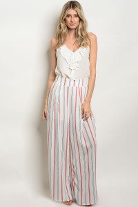 S4-1-5-P524 WHITE MAUVE STRIPES PANTS 2-2-2