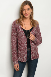 S10-20-5-S5767 BURGUNDY SWEATER 3-2-1