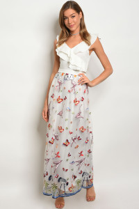 S12-3-4-D08675 WHITE WITH PRINT DRESS 2-2-2