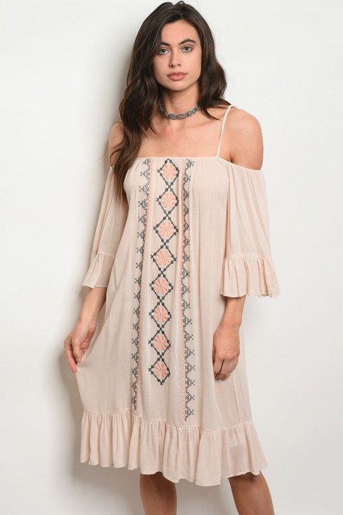 S24-2-2-D0050 TAUPE DRESS 2-2-2