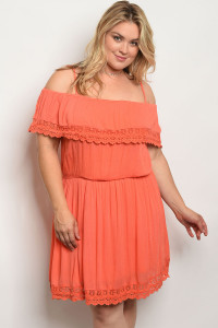 S9-17-3-D7741X CORAL PLUS SIZE DRESS 2-2-2