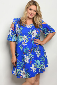 C91-A-2-D1020X ROYAL WHITE PLUS SIZE DRESS 2-2-2