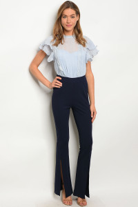 128-2-2-J99095 BLUE NAVY JUMPSUIT 2-2-2
