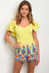 S3-7-5-R05287 YELLOW MULTY ROMPER 2-2-2