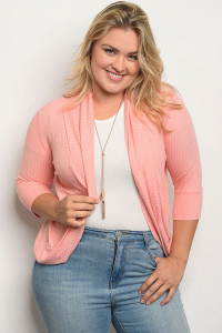 C16-B-3-T542X PEACH PLUS SIZE TOP 2-2-2