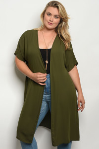 C24-A-2-T669X OLIVE PLUS SIZE TOP 2-2-2