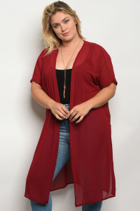 C26-A-4-T653X WINE PLUS SIZE TOP 2-2-2
