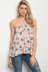 C62-A-2-T671081 PINK FLORAL TOP 2-2-2