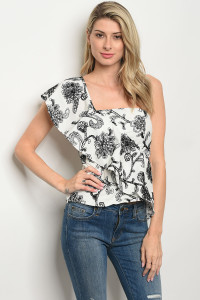 S4-9-1-T15404 WHITE BLACK TOP 3-2-1