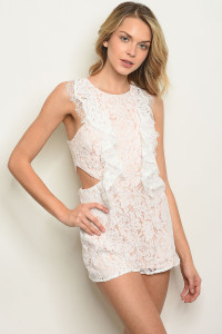 125-1-3-R15433 WHITE BLUSH ROMPER 3-2-1