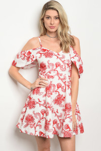 S4-9-1-D15406 WHITE RED DRESS 3-2-1