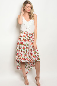 S10-8-3-S378 IVORY FLORAL SKIRT 2-2-2