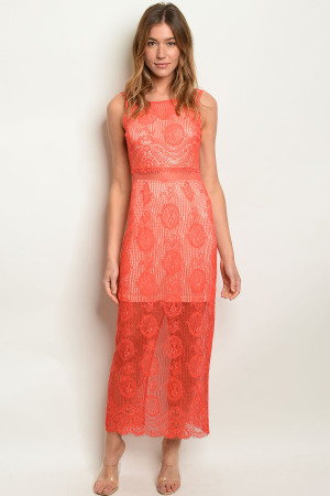 S8-6-3-D6272 CORAL NUDE DRESS 2-2-2