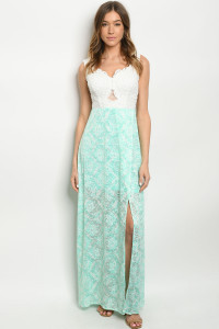 SA4-4-2-D16796 OFF WHITE MINT DRESS 2-2-2