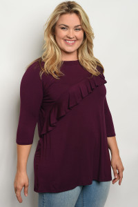 C75-B-6-T549X PLUM PLUS SIZE TOP 2-2-2