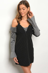 S11-8-4-D91554 BLACK GRAY DRESS 2-2-2