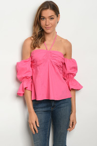 124-1-3-T21134 FUCHSIA TOP 2-2-2