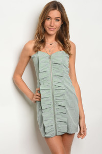 135-1-2-D90580 SAGE CHECKERED DRESS 2-1-1