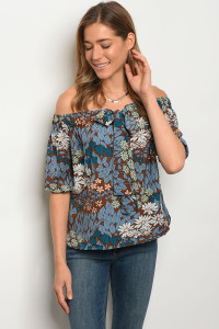 121-3-5-T3113 BROWN BLUE TOP 2-2-2