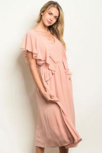 131-3-3-D1196 BLUSH DRESS 2PCS
