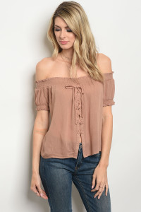 129-1-3-T20469 TAUPE TOP 2-2-2
