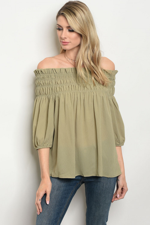 112-1-3-T21239 OLIVE TOP 2-2-2