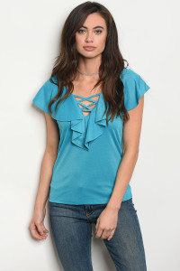 130-3-2-T10011 TURQUOISE TOP 1-2-3