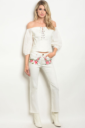 S18-3-1-S8177 WHITE DENIM PANTS 3-2-1