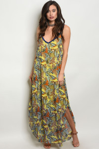 C19-B-2-NA-D3769 YELLOW MULTI DRESS 3-2-1
