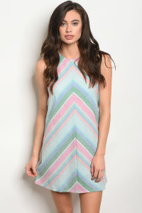 136-2-2-NA-D0294 MULTI COLOR DRESS 2-2-2